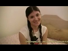 Amateur Teen In Pigtails Blows A Dude POV Style...