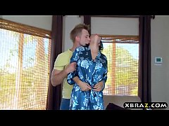 Huge tits housewife Peta Jensen cheats on her h...