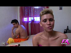 Lustful blonde fucked by husband. Her first tim...