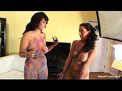 Alison Tyler Lesbian Body Paint
