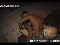 Sex Crazed Ebony Freak Monique Goes Buck Wild in a Porn Theater