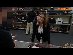 Foxy huge boobs business woman screwed up for m...