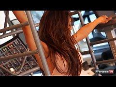 Trish Stratus Inside Fitness on Location