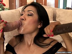 Layla Lei Wild Asian brunette loves threesomes