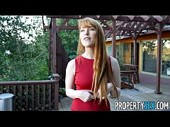 PropertySex - Hot redhead real estate agent per...