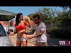 PureXXXFilms Jasmine Jae fucked at the carwash