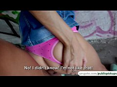 Super hot brunette babe Bessi gets paid to fuck...