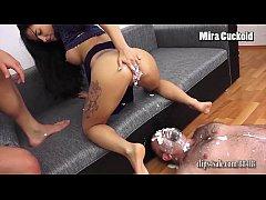 MIRA CUCKOLD - CUCKOLD EATS CREAM OUT OF MISTRE...