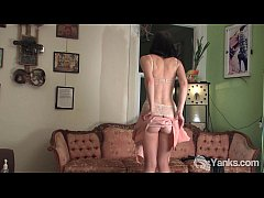 Brunette Coral Spanking Her Ass And Masturbatin...