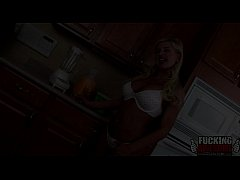 Andi Anderson Gets Her Ass Filled Up With Smoothie