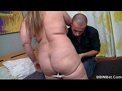 Horny guy picks up hot fat chick