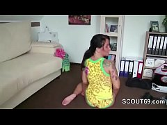 Mom Seduce German Step-son to Fuck her after Sh...