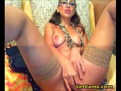 Webcam chat sex with sexy girl wear glass