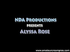 Alyssa Rose in Amateur Creampies