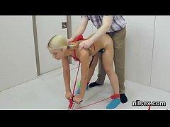 Unusual teen is brought in anus assylum for awk...