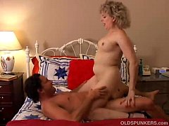 Spunky older blonde is a super hot fuck and lov...