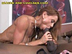 Redhead Cougar Rides Black