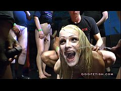 Cute brunette gives blowjob and blonde gets pee