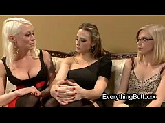 Babe anal mistreated by two lesbian babes