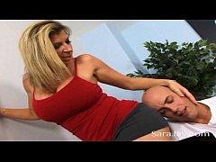 Big Boob Slut Sara Jay Works on Hard Cock!