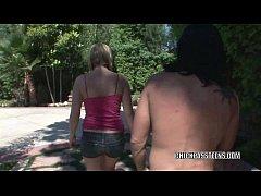 Teen hottie Hailey James gets her cute butt fuc...