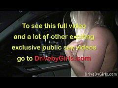 Public car gang bang orgy through car window se...