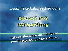 Mixed Oil Wrestling - 001 - Muffled Groans - Lucy