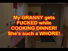 Granny Slut FUCKED in her KITCHEN by BBC