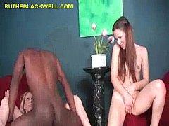 Hot Girls Take Turn On Black Cock