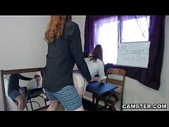 Teacher creampies schoolgirl in his classroom