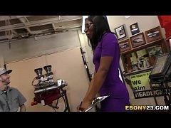 Horny Mechanics Gangbang Ebony Bellah Dahl