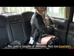 Cute chick gets pussy rammed hard to pay taxi fare