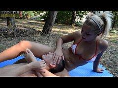 Lana Footjob Female Domination Video