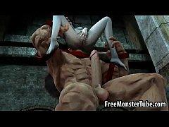 Foxy 3D babe getting fucked hard by The Juggernautnoutvsdumino-high 1
