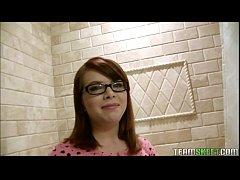 Bespeckled Redhead Teen Releases Her Inner Freak