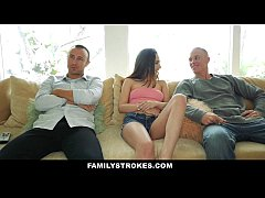 FamilyStokes- Step-Sis Tricked Into Fucking Best Friends