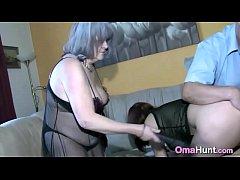 Nasty old couple got a slave