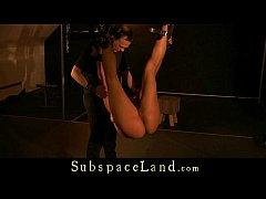 Ebony slave bondage fucked and masturbated in r...