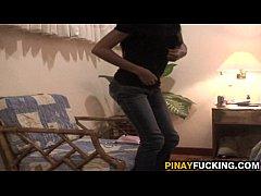 Filipina Hooker Gives A Shower Blowjob