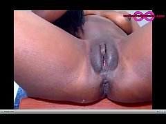 Ebony Cam Amateur BlackSexy Masturbation And Sq...
