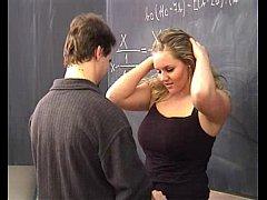 Hot blonde fucked by her teacher