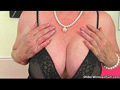 British granny Claire Knight is pleasuring her ...