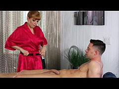 Redhead Penny Pax loves massage and anal sex