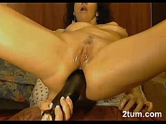 Hugh Egg Plant Ass Fuck and Orgasm..Must See