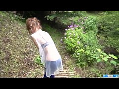 Top rated outdoor POV oral with kinky Mikuru Sh...