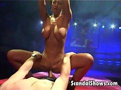 Lovely striper puts a dildo inside her