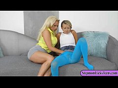 Pressley Carter and Olivia Foxx make out on the...
