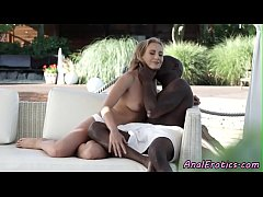 Young eurobabe anally fucked by black cock