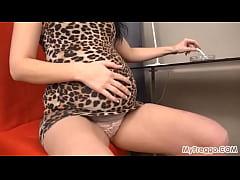 40 Weeks Pregnant and Smoking While Masturbating!