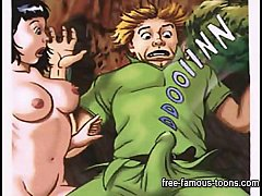 Peter Pan and Wendy hentai orgy